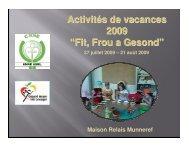 Activités de vacances et projets pédagogiques Anne asbl