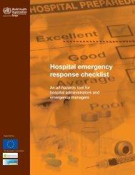 Hospital emergency response checklist