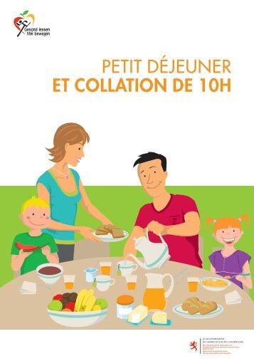 PETIT DÉJEUNER ET COLLATION DE 10H - Portail Santé