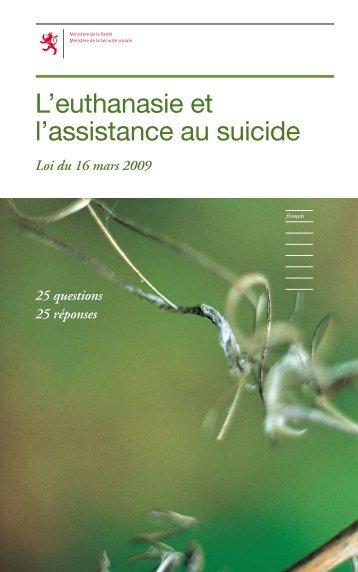 L'euthanasie et l'assistance au suicide