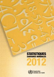 Statistiques sanitaires mondiales 2012 - World Health Organization