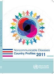 Noncommunicable diseases country profiles 2011 - libdoc.who.int ...