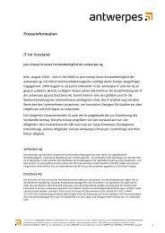 Presseinformation IT im Vorstand - DocCheck AG