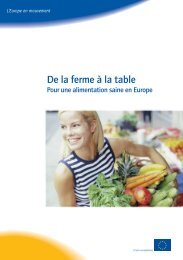 De la ferme à la table -Pour une alimentation saine en Europe