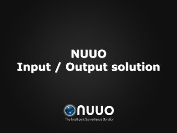 NUUO Input-Output Solutions - Santec-video.de