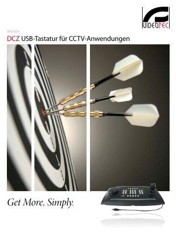 Videotec DCZ USB Steuertastatur - Santec-video.de