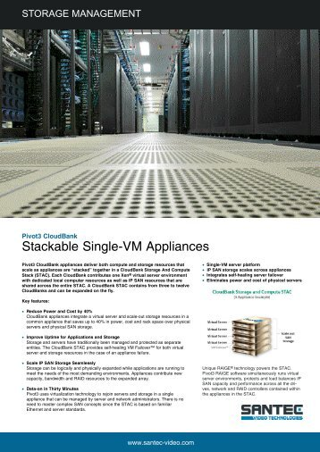 Stackable SinglerVM Appliances - Santec-video.de