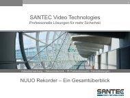 Webinar-Präsentation NUUO Rekorder - SANTEC Video