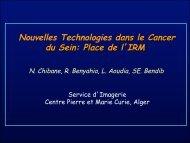 Nouvelles technologies dans le cancer du sein : Place de l'IRM Dr ...
