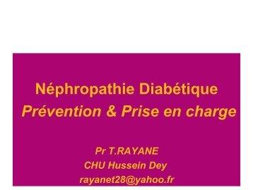 Néphropathie diabétique prévention et prise en ... - Santé Maghreb