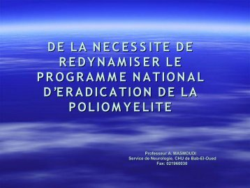 Diapositive 1 - Santé Maghreb