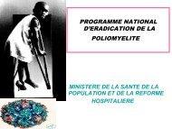 Programme National d'éradication de la poliomyélite - Santé Maghreb