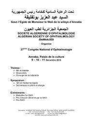 Programme scientifique - Santé Maghreb