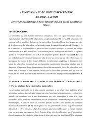 LE NOUVEAU- NE DE MERE TUBERCULEUSE A ... - Santé Maghreb