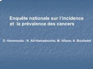 Enquête nationale sur l' incidence et la prévalence des cancers