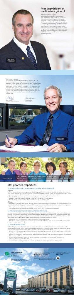 Faits saillants du rapport annuel 2007-2008 - Santé Montérégie