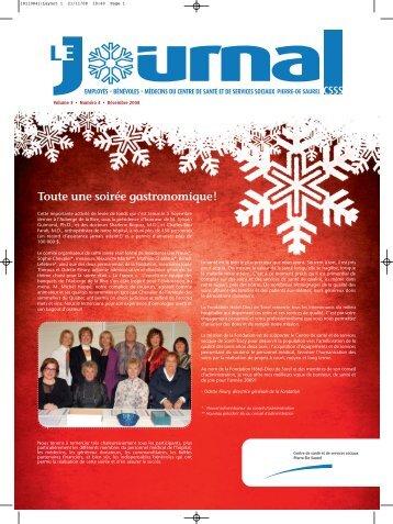 Journal interne Décembre 2008 - Santé Montérégie