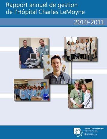 Rapport annuel de gestion de l'Hôpital Charles ... - Santé Montérégie