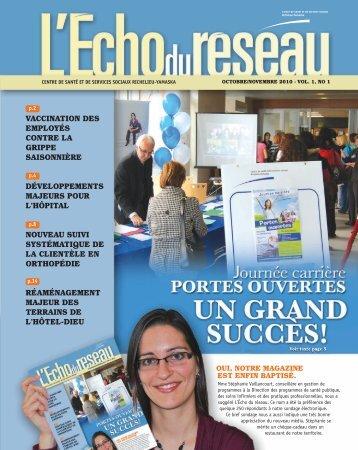 L'Écho du Réseau - Octobre/Novembre 2010 - Santé Montérégie