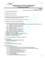 3-40. Exemple d'ordre du jour de visite de site