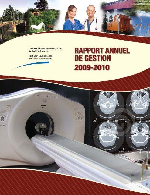 Rapport annuel 2009-2010 - Santé Montérégie
