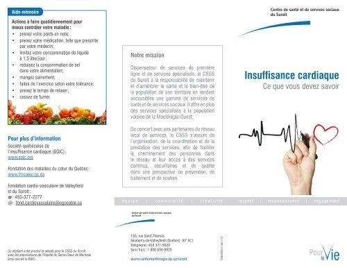Dépliant: Insuffisance cardiaque - Santé Montérégie