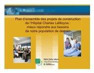 Plan d'ensemble des projets de construction de l ... - Santé Montérégie