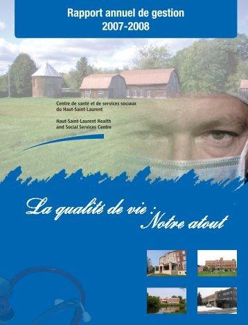 Rapport annuel 2007-2008 - Santé Montérégie