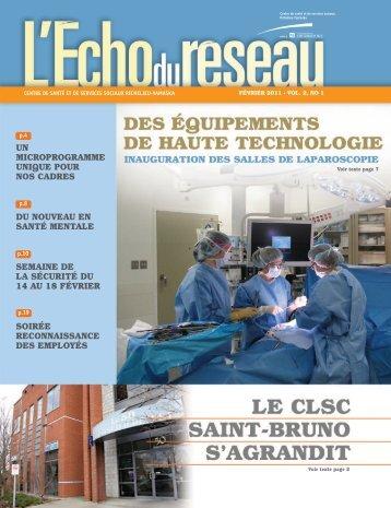 L'Écho du réseau - Février 2011, Vol. 2, no 1