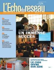 L'Écho du réseau - Mai 2011, Vol. 2, no 3 - Santé Montérégie