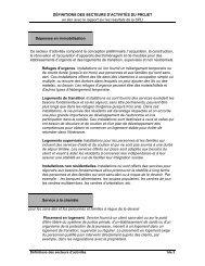Définition des secteurs d'activités du projet en lien avec le rapport ...