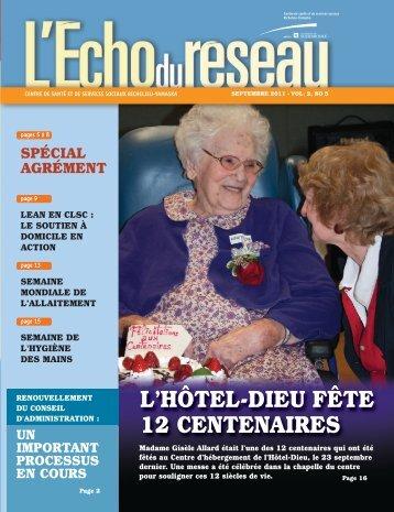 L'Écho du réseau - Septembre 2011, Vol. 2, no 5 - Santé Montérégie