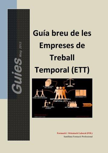 Guía breu de les Empreses de Treball Temporal (ETT) - FOL