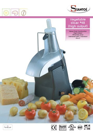 Vegetable slicer #48 (high output) - Santos