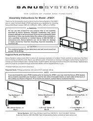 Assembly Instructions for Model: JFBD1 - Sanus