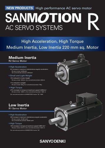 High Acceleration, High Torque Medium Inertia, Low Inertia 220 mm ...