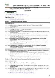 5th INTERNATIONAL MEETING OF CHARCOAL ... - SAPaC