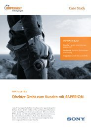 Sony Austria GmbH - Saperion AG
