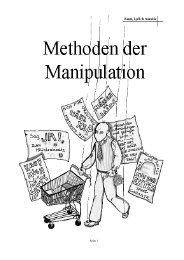 Methoden der Manipulation - Sapientia