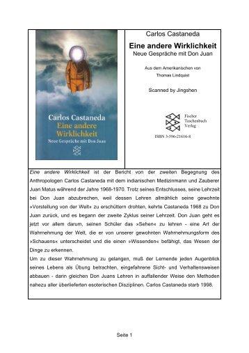 Carlos Castaneda - Eine andere Wirklichkeit.do - Sapientia