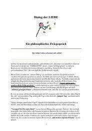 Dialog der LIEBE - Holofeeling
