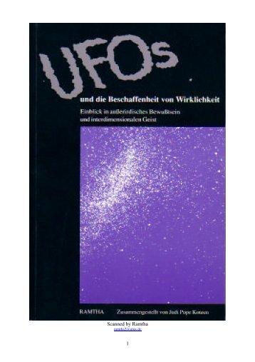 Ufo's und die Beschaffenheit von Wirklichkeit - Sapientia