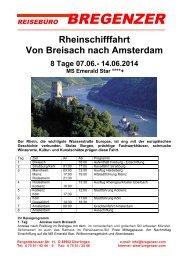 Rheinschifffahrt Von Breisach nach Amsterdam 8 Tage 07.06 ...