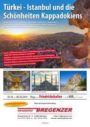 Türkei - Istanbul und die Schönheiten Kappadokiens - Reisebüro ...