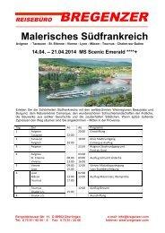 Malerisches Südfrankreich - Reisebüro Bregenzer GmbH