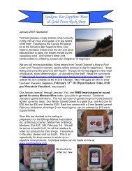 Newsletter 24: September 2004 - Spokane Bar Sapphire Mine