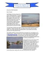 Newsletter 24: September 2004 - Spokane Bar Sapphire Mine