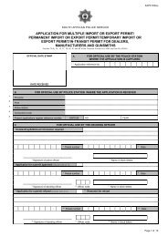 application for multiple import or export permit/ permanent ... - Saps