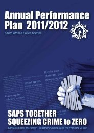 Annual Performance Plan 2011/2012 - Saps