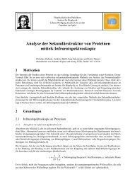 Analyse der Sekundärstruktur von Proteinen mittels ...